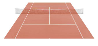 Tennis. Court pitch field with net Royalty Free Stock Photography