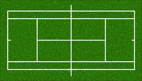Tennis court. Realistic textured grass. Vector Royalty Free Stock Photography