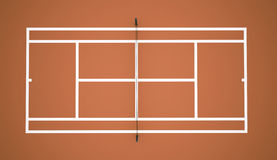 Tennis court rendered Royalty Free Stock Photo