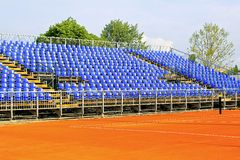 Tennis court seats Stock Images