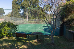 Tennis Court Secluded Royalty Free Stock Photos