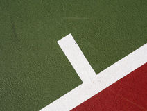 Tennis court service mark Stock Image