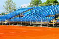 Tennis court stands Royalty Free Stock Photos