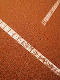 Tennis court t-line 16. Close-up Stock Photos