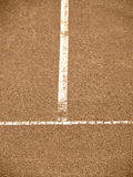 Tennis court with t-line (152). Tennis court with t-line, old look Royalty Free Stock Photos