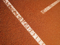 Tennis court t-line (18). Tennis court t-line, outside in a tennis court Stock Photography