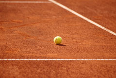 Tennis court with tennis ball Royalty Free Stock Image