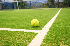 Tennis court with tennis ball Royalty Free Stock Photography