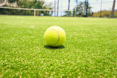 Tennis court with tennis ball Stock Photography