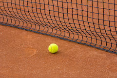 Tennis court with tennis ball Royalty Free Stock Photo