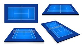 Tennis court . Top view and different perspective, eps10 vector.  vector illustration