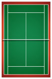 Tennis court from top view Stock Photography