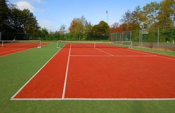Tennis court under blue sky Stock Photography