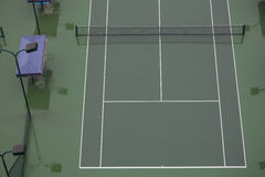 Tennis court. The tennis court is very empty after rain Stock Photography