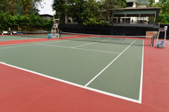 Tennis Court. View of the Tennis Court in the park stock images