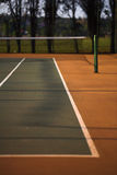 Tennis court view tram line Royalty Free Stock Images