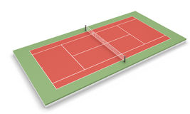 Tennis court on a white Royalty Free Stock Photography