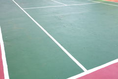 Tennis court white intersecting lines Stock Photos