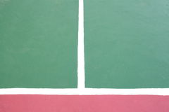 Tennis court white intersecting lines Royalty Free Stock Photo