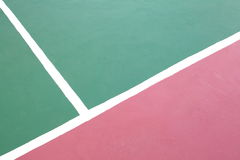 Tennis court white intersecting lines Stock Image