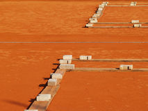 Tennis court (3). Tennis court in winter season Royalty Free Stock Photos