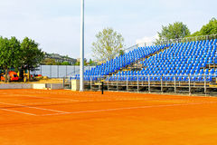 Tennis court works Royalty Free Stock Photography