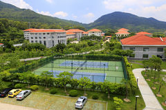 Tennis court of xiamen administration institute Stock Photography
