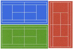 Tennis courts Royalty Free Stock Images