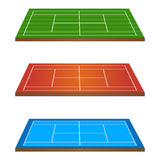 Tennis Courts 3D Persepctive 1 Royalty Free Stock Image