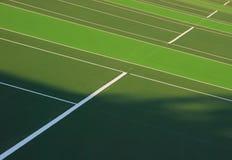 Tennis courts. Saville Sports Center outdoor tennis courts in Edmonton Alberta Canada Royalty Free Stock Photos