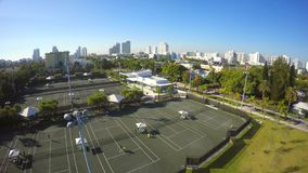 Tennis courts stock video footage