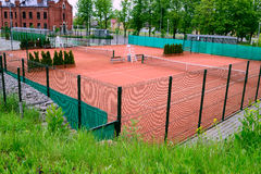 Tennis courts in city royalty free stock photo
