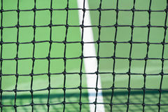 Tennis courts with close up of net Stock Photo