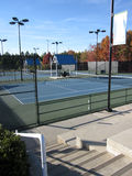Tennis courts. A cluster of tennis courts in North Carolina ready for players stock image