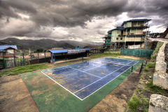 Tennis Courts - Hakha, Chin State, Myanmar (Burma) Royalty Free Stock Image