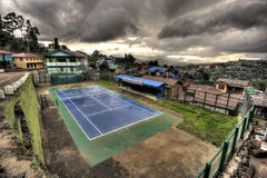 Tennis Courts - Hakha, Chin State, Myanmar (Burma) Royalty Free Stock Photos