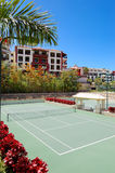 Tennis courts at the luxury hotel Royalty Free Stock Images