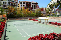 Tennis courts at the luxury hotel Royalty Free Stock Photos