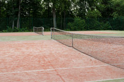 Tennis courts in recreation village park summer Stock Images