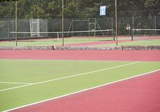 Tennis courts in sports center Royalty Free Stock Photography