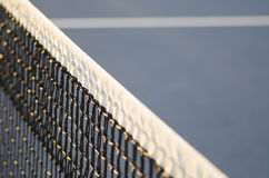 Tennis cout net shallow depth of field Royalty Free Stock Image
