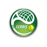 Tennis cup. Vector illustration of tennis cup Stock Photo