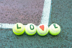 Tennis d'amour Photographie stock libre de droits
