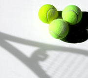 Tennis d'ombre Images stock
