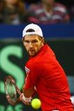 Tennis-Davis-Cup Österreich gegen Frankreich Stockbild