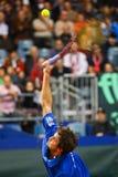 Tennis-Davis-Cup Österreich gegen Frankreich stockfotografie