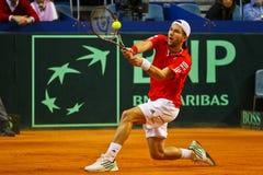 Tennis-Davis-Cup Österreich gegen Frankreich Stockbilder