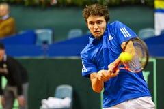 Tennis-Davis-Cup Österreich gegen Frankreich lizenzfreies stockbild