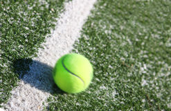 tennis de cour de bille Photo stock