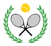 Tennis del vincitore Immagine Stock